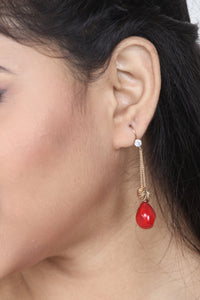 STYLISH RED COLOUR STONE JEWELLERY