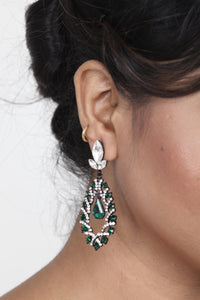 SEA-GREEN COLOUR BEAUTIFUL STONE EARRING