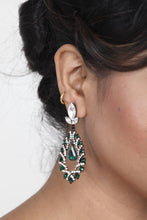Load image into Gallery viewer, SEA-GREEN COLOUR BEAUTIFUL STONE EARRING