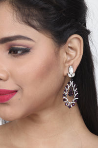 MAGENTA COLOUR GORGEOUS LONG EARRING