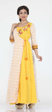 Load image into Gallery viewer, YELLOW COLOUR ONE PIECES LONG COTTON DRESS