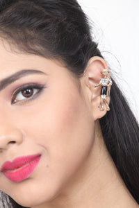 GOLD - TONED EAR CUFF