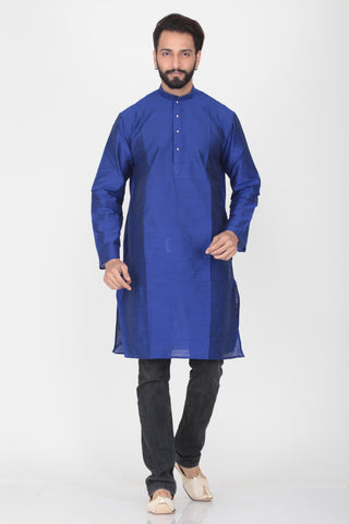 ROYAL BLUE COLOUR COTTON KNEE LENGTH KURTA