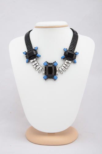BLACK COLOUR METAL STATEMENT NECKLACE
