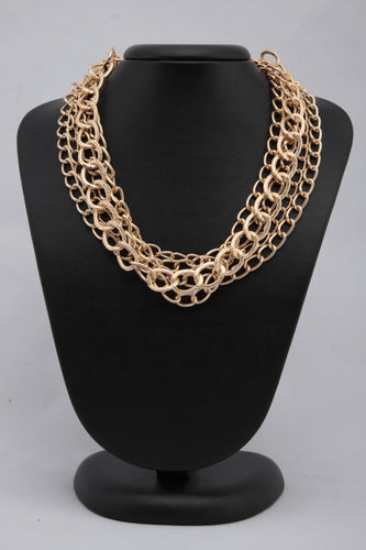 MULTILAYERED GOLDEN CHAIN NECKLACE