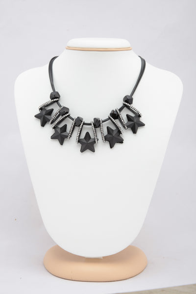 BLACK COLOUR BEADS NECKLACE