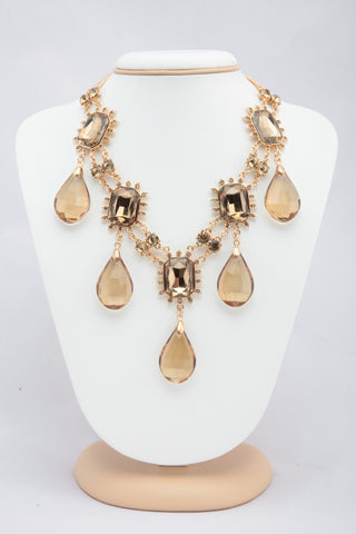 BEAUTIFUL GOLDEN COLOUR STONE NECKLACE