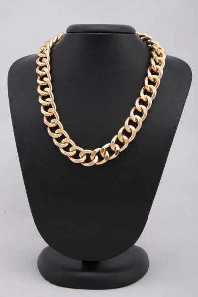GOLDEN COLOUR BRAIDED NECKLACE