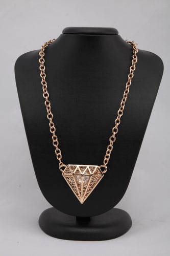 GOLDEN COLOUR METAL CHAIN LINK  NECKLACE