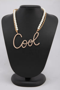 MULTILAYERED GOLDEN COLOUR NECKLACE WITH A STYLISH PENDANT