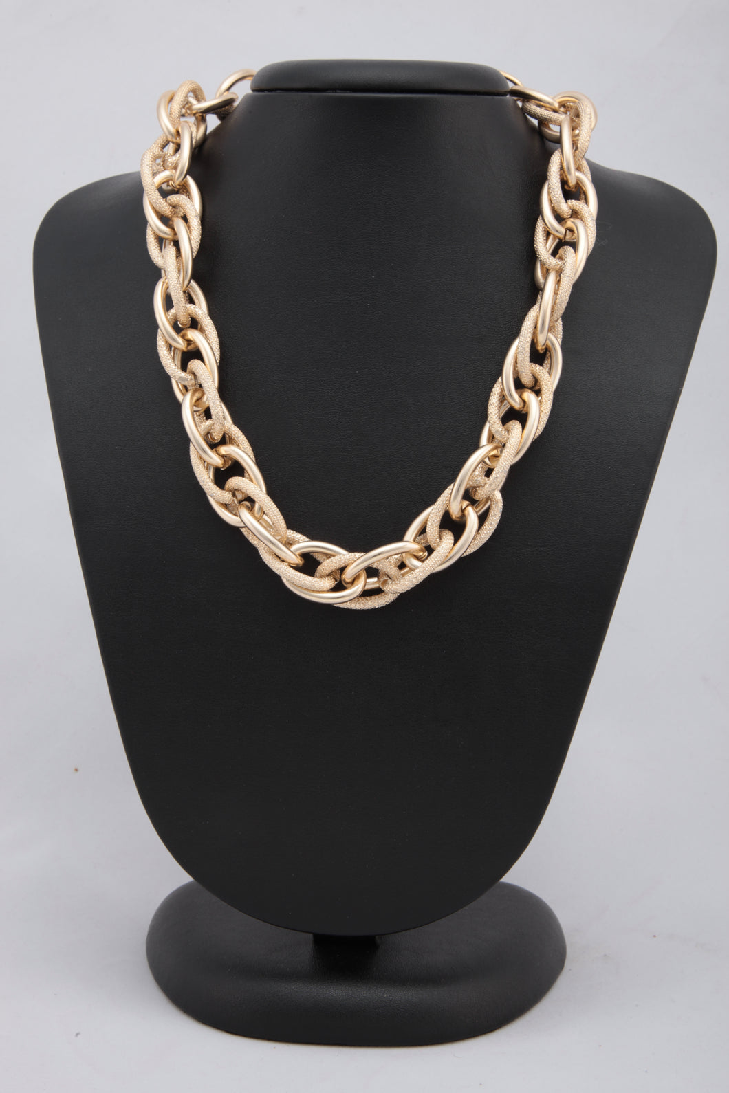 GOLDEN COLOUR MULTILAYERED BRAIDED NECKLACE