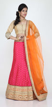 Load image into Gallery viewer, RANI COLOUR DUPION SILK LEHENGA WITH ALL OVER GOLDEN BUTA WORK