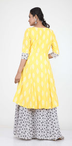 SKIRT-JACKET FINISH ONE PIECES COTTON PRINTED LONG DRESS