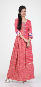 RANI COLOUR ONE PIECES COTTON PRINTED LONG DRESS