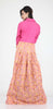 PINK COLOUR ONE PIECES LONG COTTON DRESS