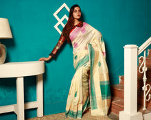 Load image into Gallery viewer, Khadi Banarasi Saree - Keya Seth Exclusive
