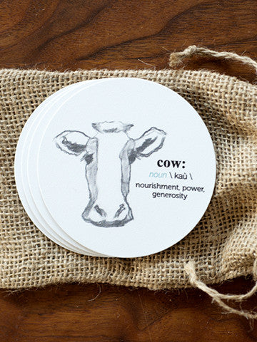 Cow Coasters