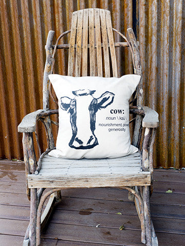 Hand Made Cow Pillow