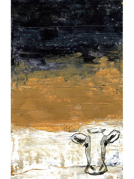 Cow Print - Blue, Orange and White Cow