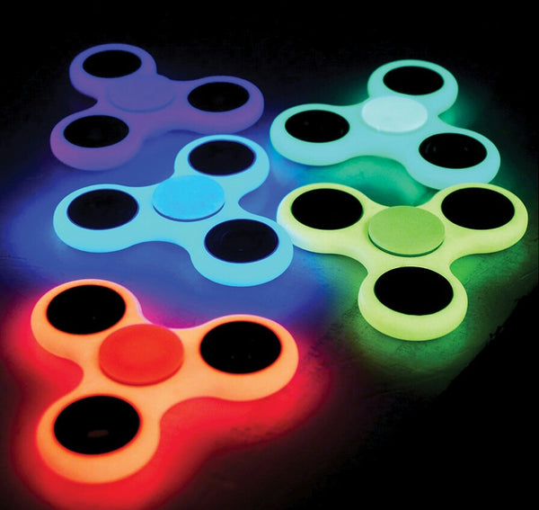 100 Fidget Spinners GLOW IN THE DARK - Mixed Colors - Wholesale