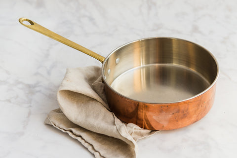 straight sided copper pan