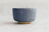 textured two tone blue ceramic bowl