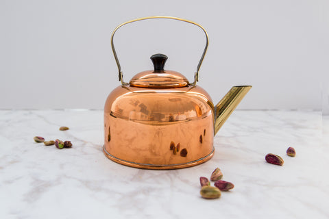 small copper kettle
