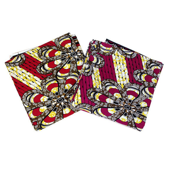 African Print Flower Fabric