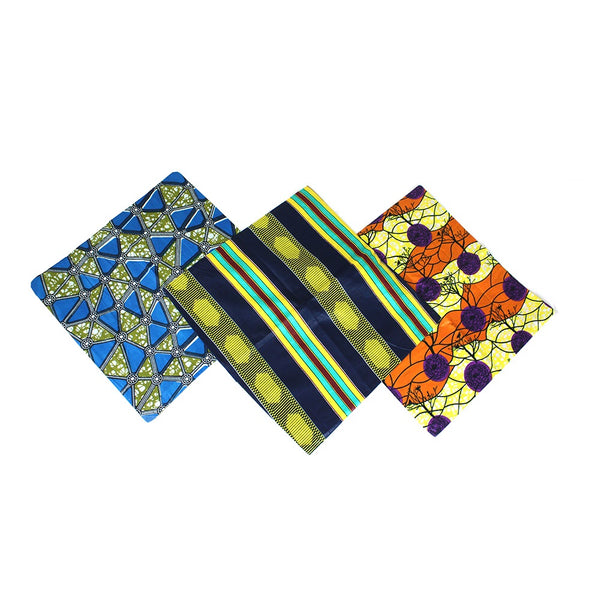 Set Of 3 African Print Pillow Covers