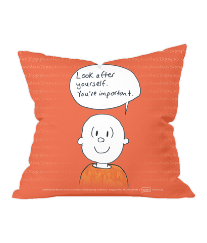 Throw Cushion – You're important – Dippydoodles