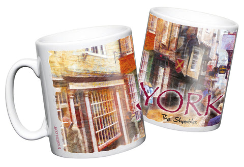 The Shambles, York, coffee mug - YPC
