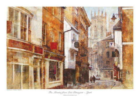 The Minster from Low Petergate, York - print - YPC
