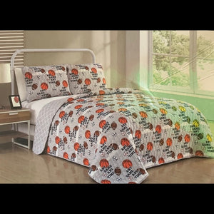 NEW Twin Quilt Set Sports
