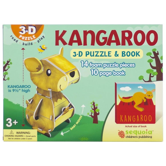 NEW Kangaroo 3D Puzzle And Book