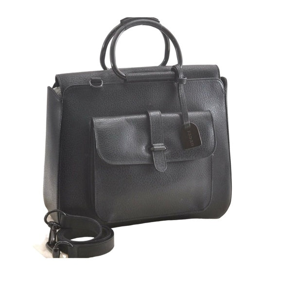 Gucci Black Leather Tote