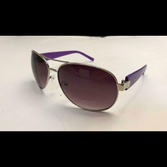NEW Purple Framed Aviator Sunglasses