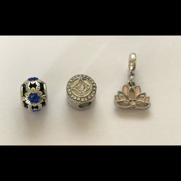 NEW Set of 3 Bracelet Charms Fits Pandora