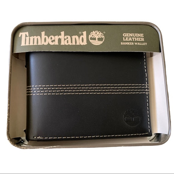 NEW Timberland Black Leather Wallet