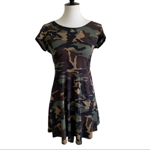 NWT Camouflage Rebel Sugar Skater Dress Medium