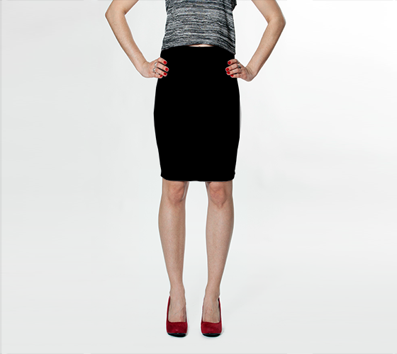 Black - Fitted Skirt - AWpaints - 1