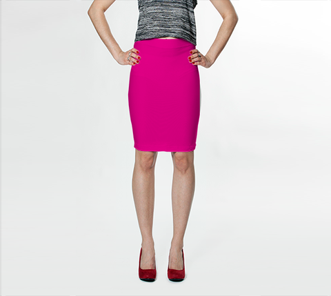 BubbleGum Pink - Fitted Skirt - AWpaints - 1