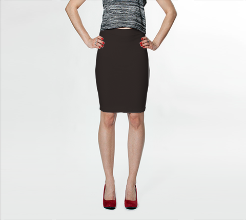 Brown - Fitted Skirt - AWpaints - 1