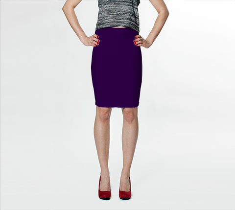 Dark Violet - Fitted Skirt - AWpaints - 1
