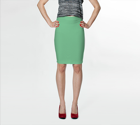 Pale Green - Fitted Skirt - AWpaints - 1