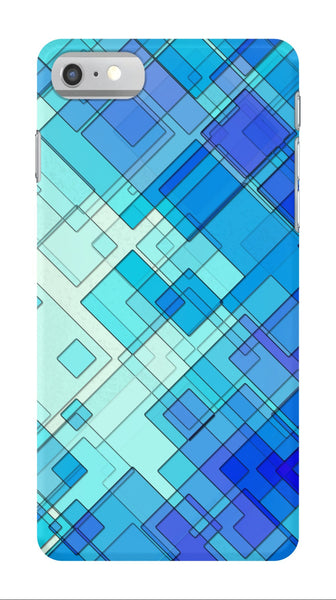Blue Geometric - iPhone 7/7 Plus Case - AWpaints - 1