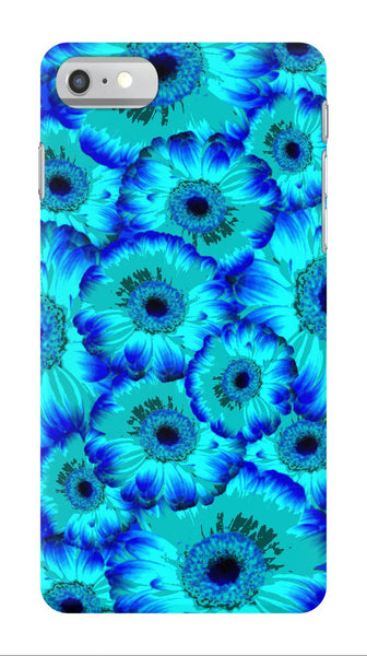 Bright Blue Flowers - iPhone 7/7 Plus Case - AWpaints - 1