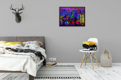 Abstract City View - Framed Art Print