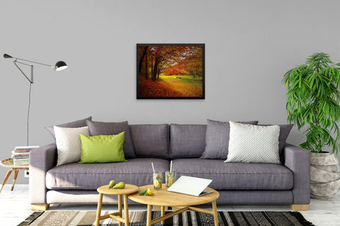 Autumn Park Outing - Canvas Wrapped Art