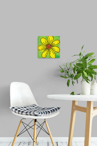 Big Yellow Daisy - Canvas Wrapped Art