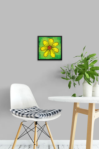 Big Yellow Daisy - Framed Art Print